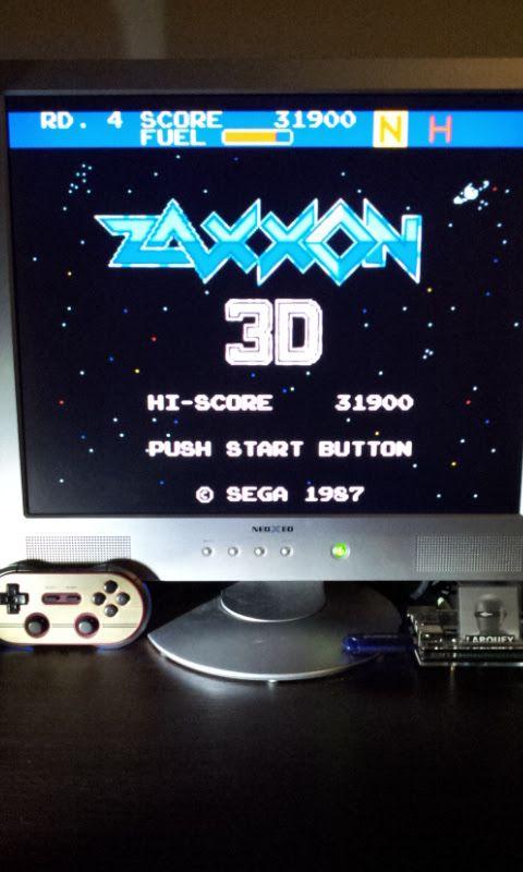 Larquey: Zaxxon 3D (Sega Master System Emulated) 31,900 points on 2017-01-17 12:47:55