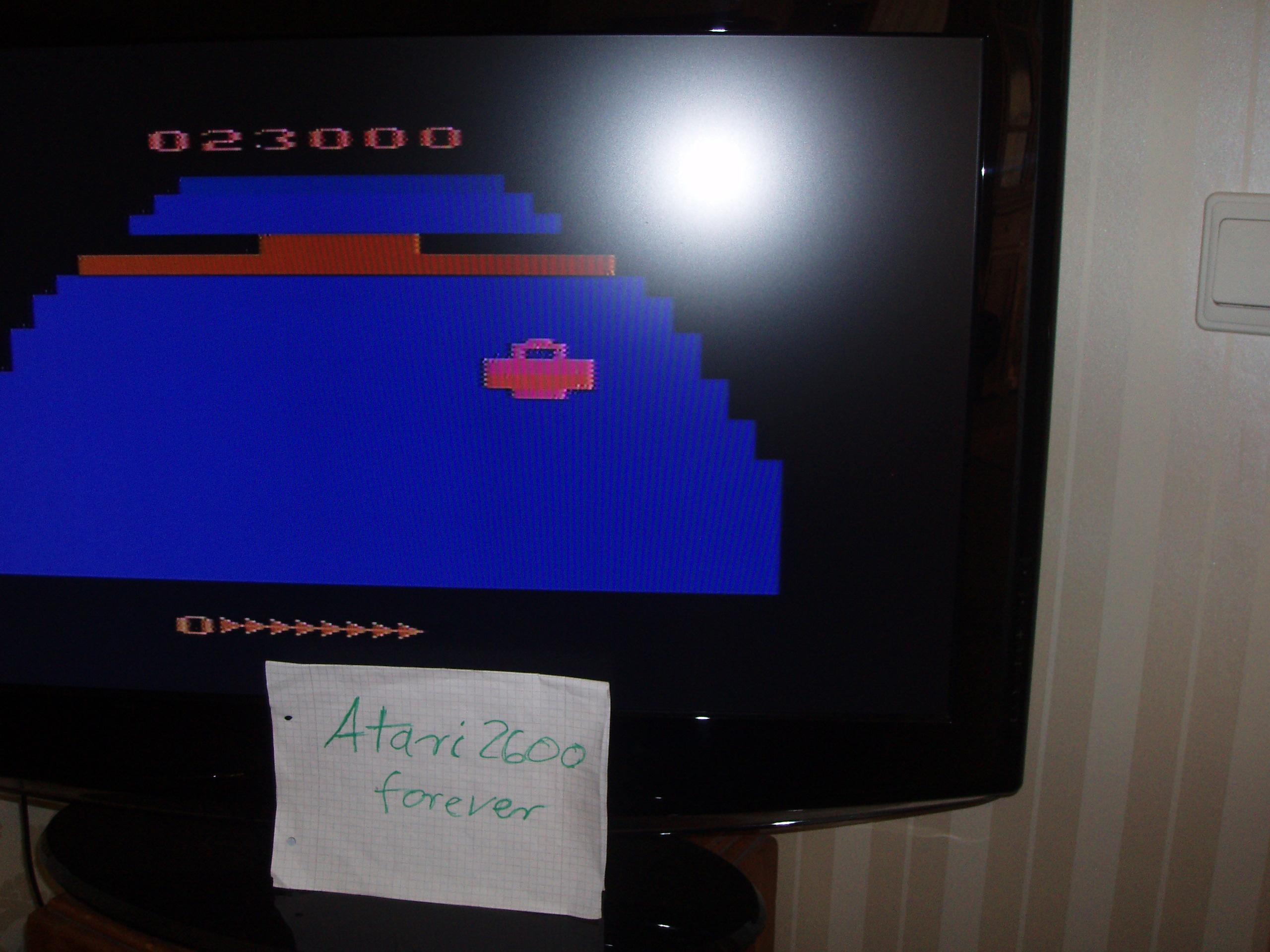 atari2600forever: Zaxxon (Atari 2600 Novice/B) 23,000 points on 2016-07-05 03:44:29