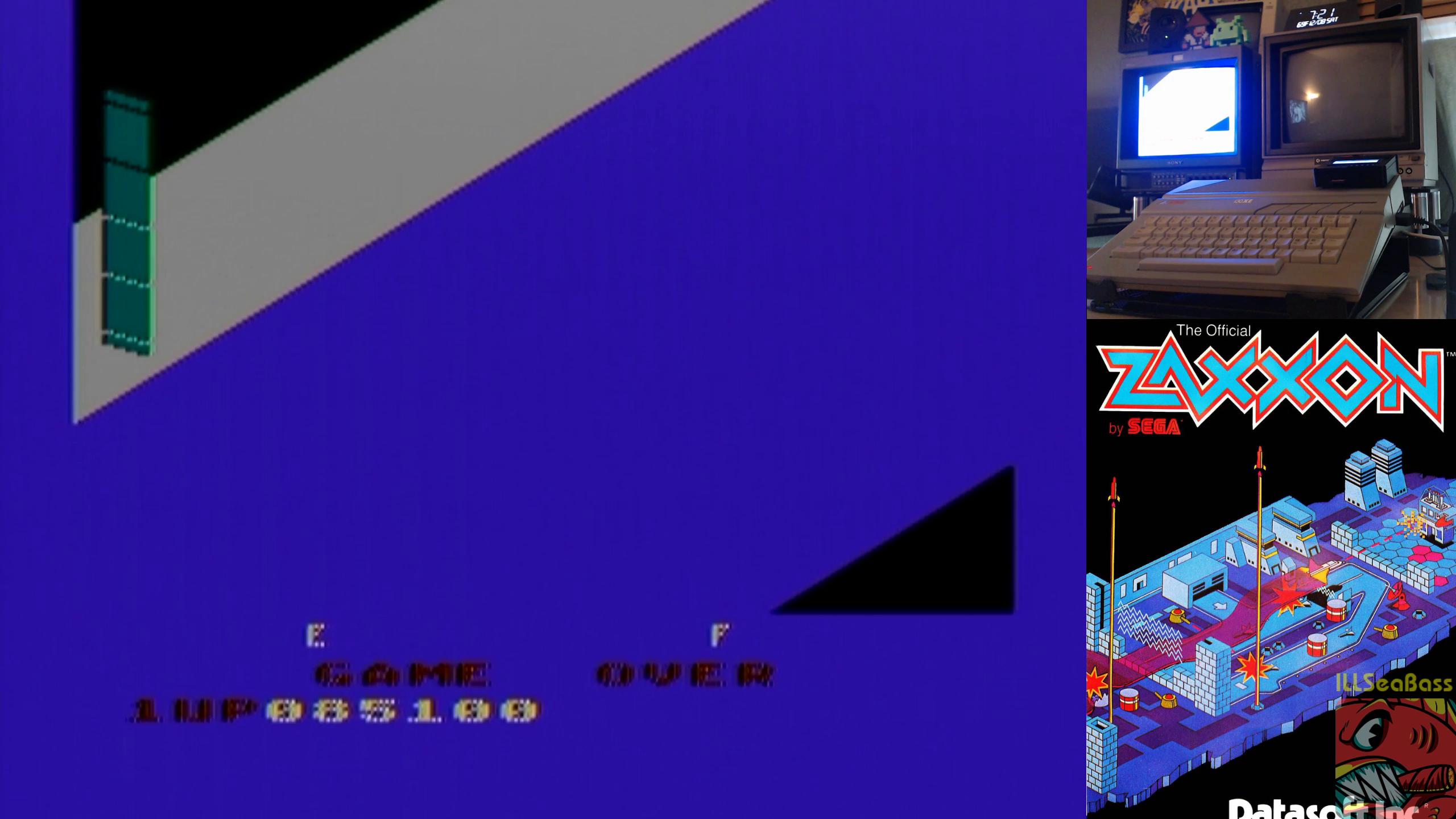 ILLSeaBass: Zaxxon (Atari 400/800/XL/XE) 85,100 points on 2018-12-13 11:45:06
