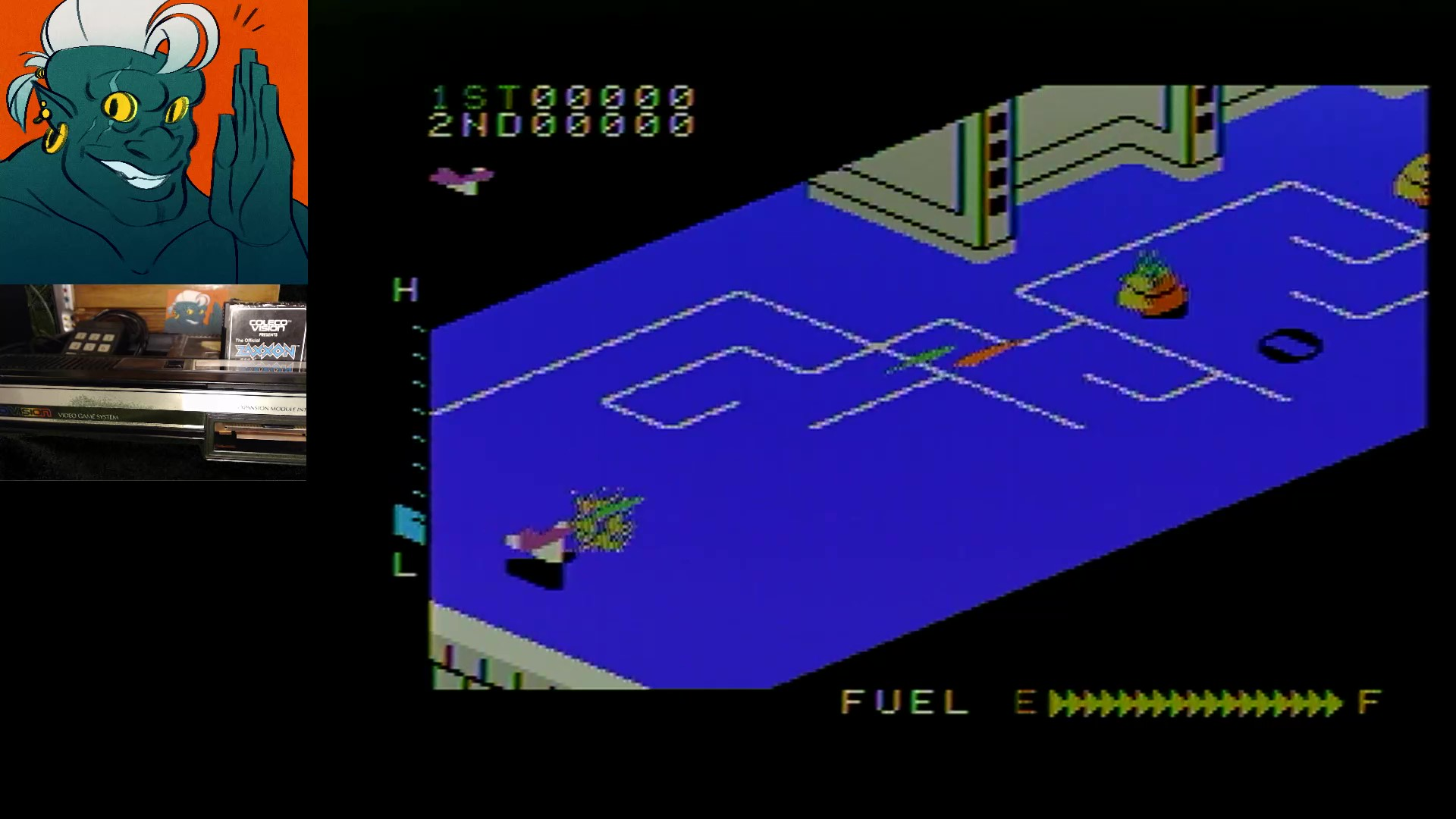 AwesomeOgre: Zaxxon (Colecovision) 131,300 points on 2019-05-02 18:05:00