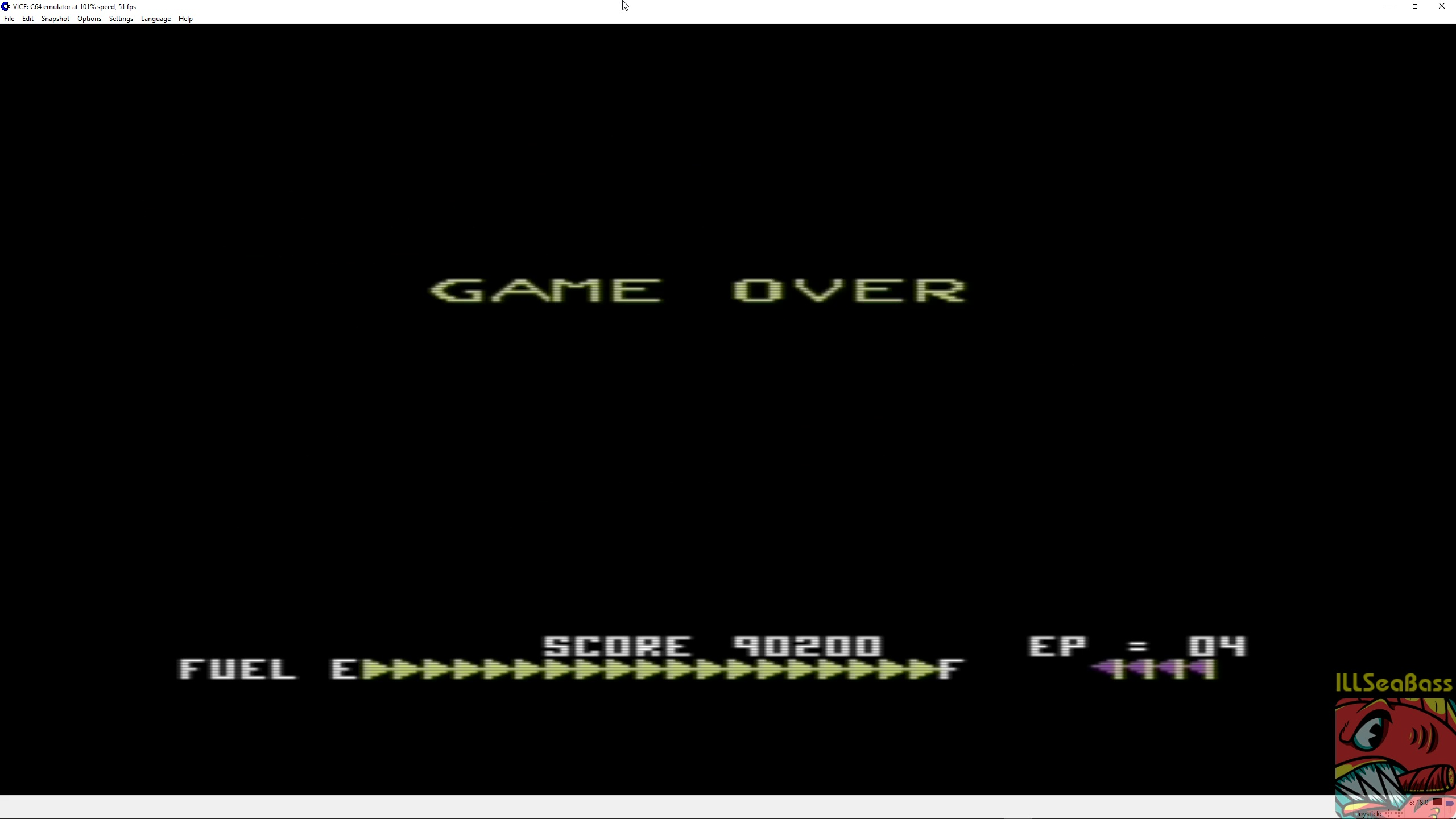 ILLSeaBass: Zaxxon: Sega (Commodore 64 Emulated) 90,200 points on 2018-03-20 21:00:22