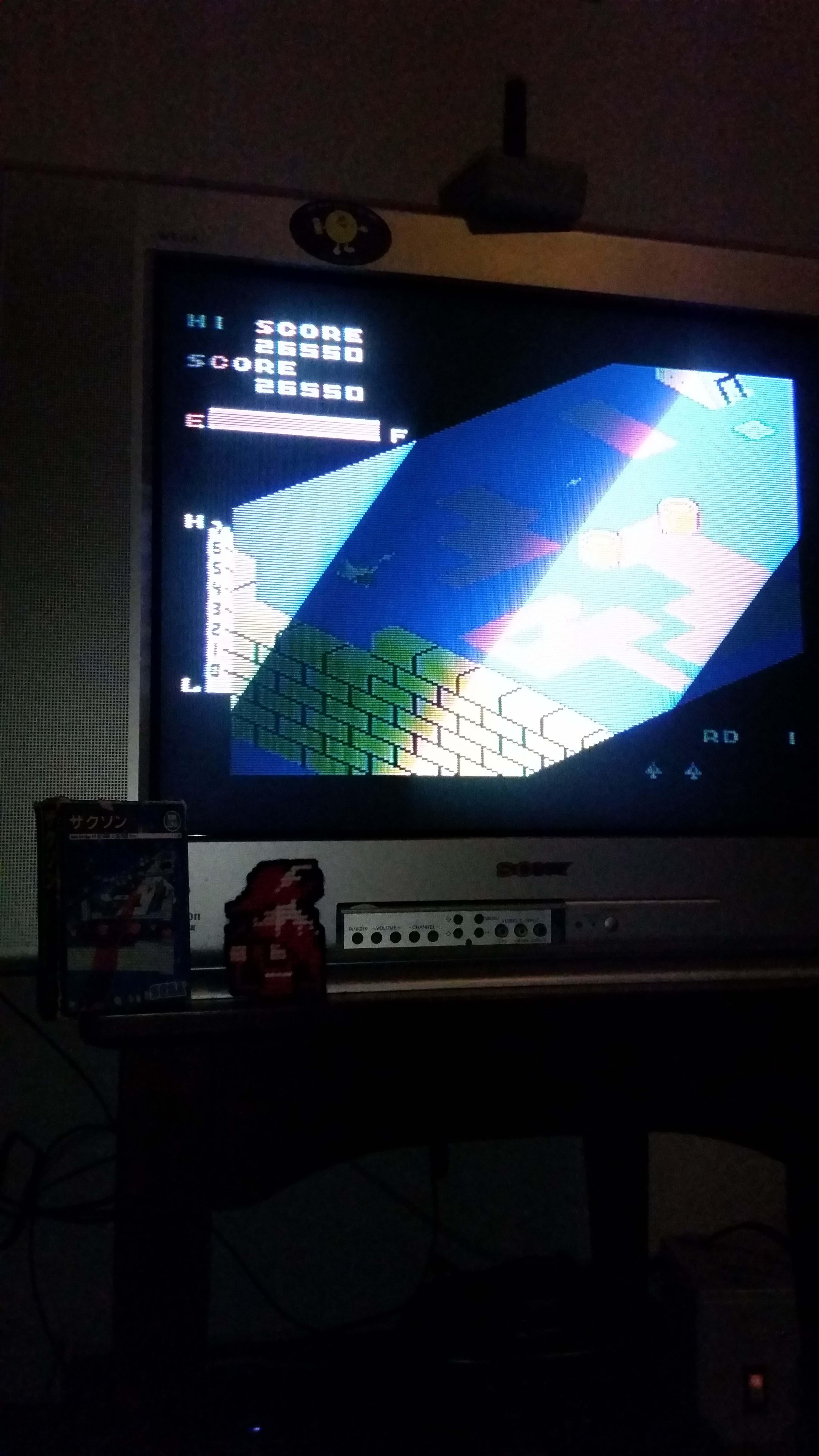 RedMage: Zaxxon (Sega SG-1000) 26,550 points on 2018-04-18 10:39:01