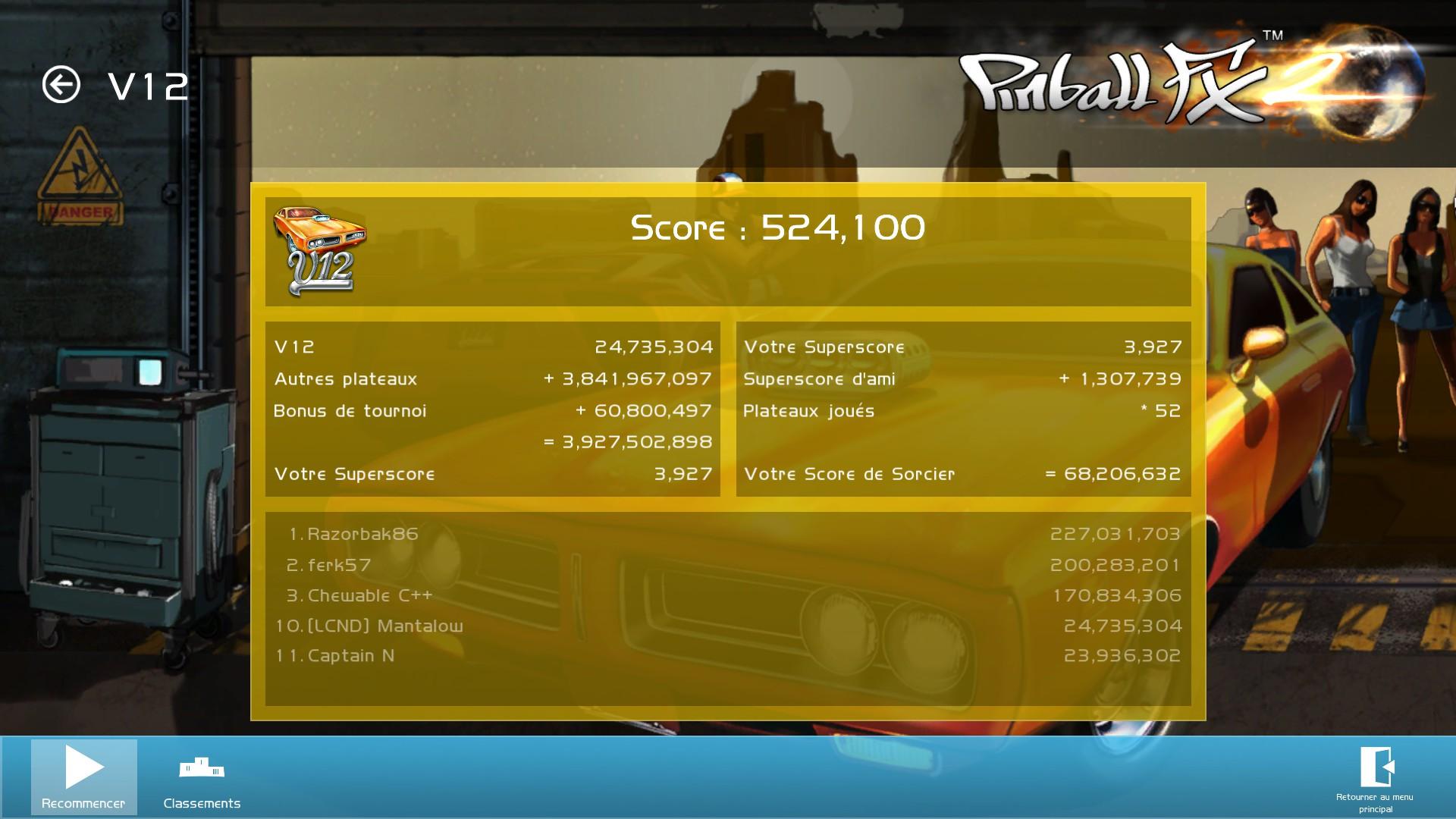 Mantalow: Zen Pinball 2: V12 (PC) 24,735,304 points on 2015-06-27 07:35:26