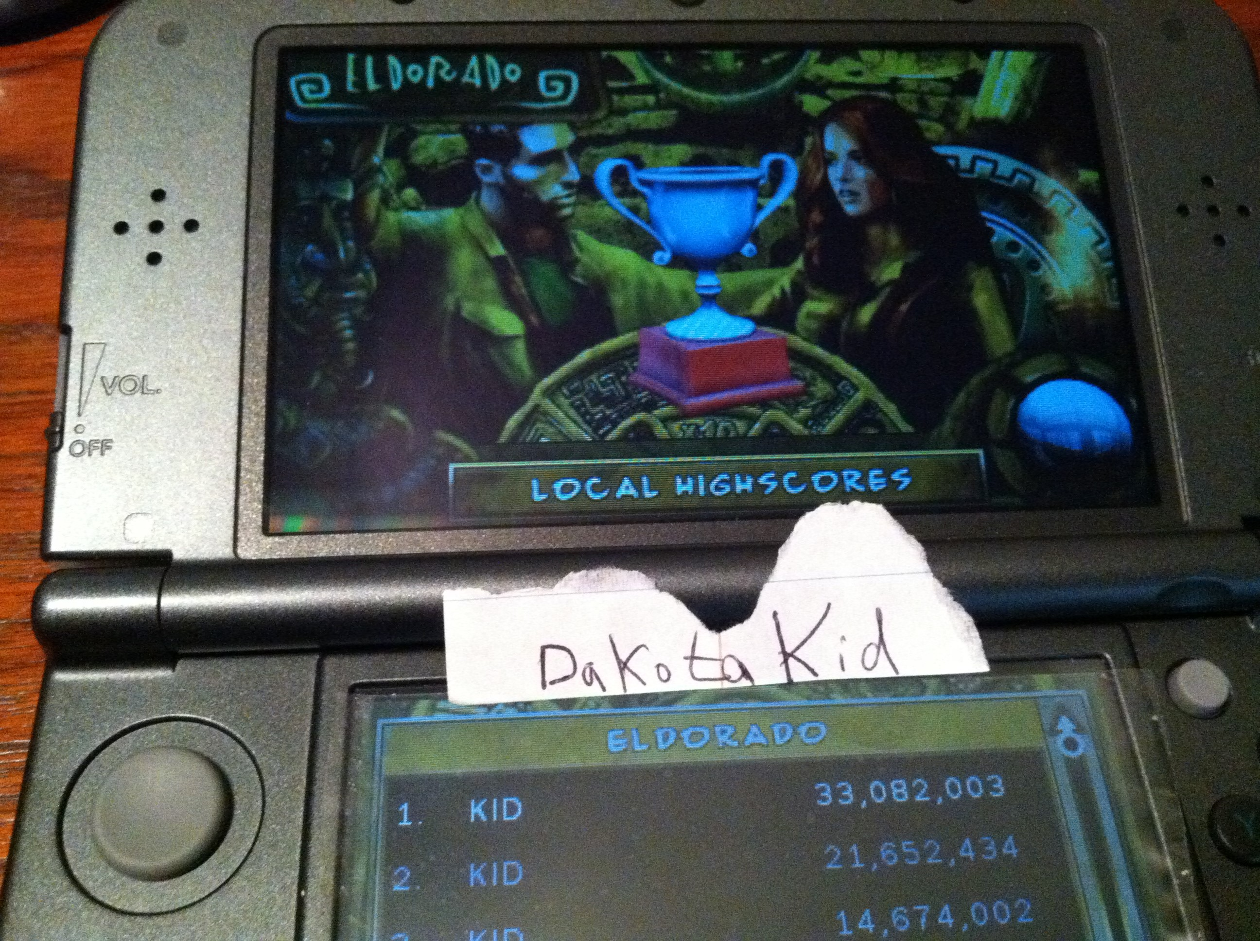 DakotaKid: Zen Pinball 3D: Eldorado (Nintendo 3DS) 33,082,003 points on 2017-11-30 15:11:52