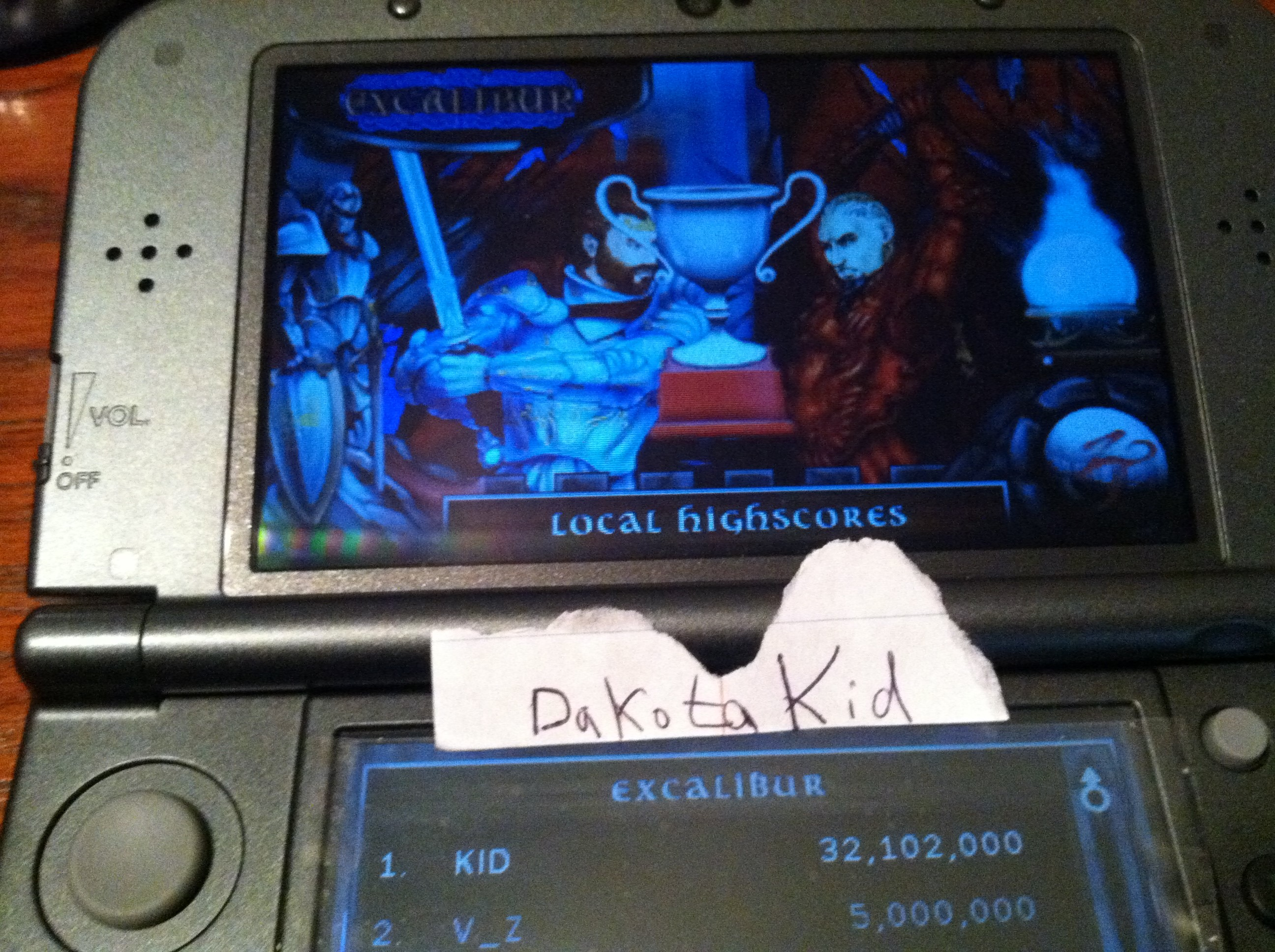 Zen Pinball 3D: Excalibur 32,102,000 points