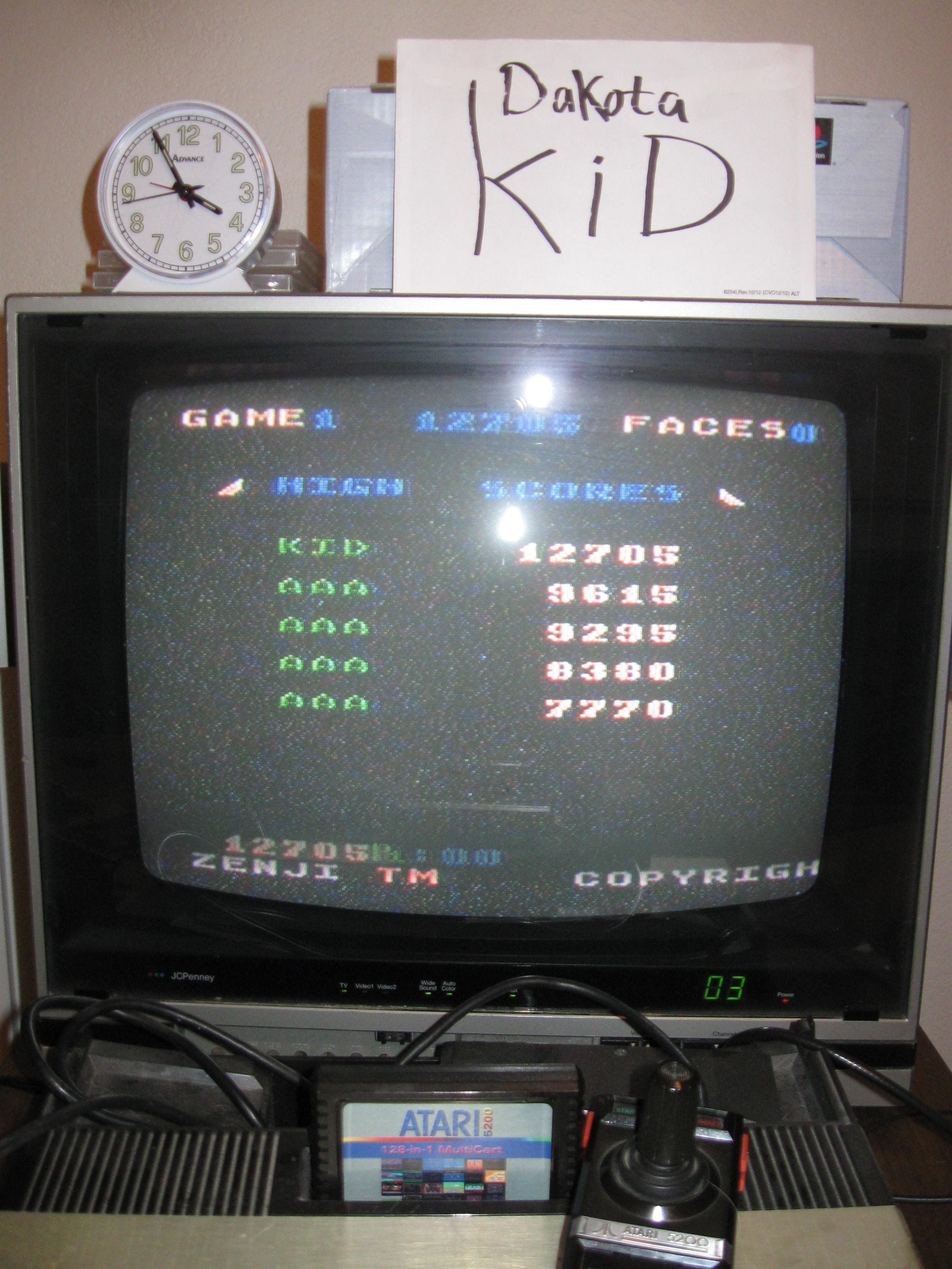 DakotaKid: Zenji: Game 1 (Atari 5200) 12,705 points on 2016-04-16 16:10:47
