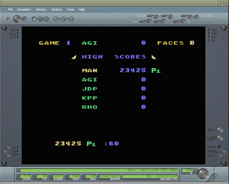 Zenji: Game 1 23,425 points
