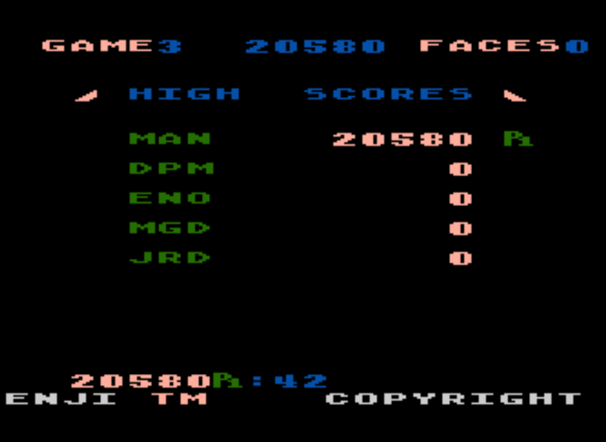 MangiaBoy: Zenji: Game 3 (Atari 5200 Emulated) 20,580 points on 2016-11-26 04:08:03