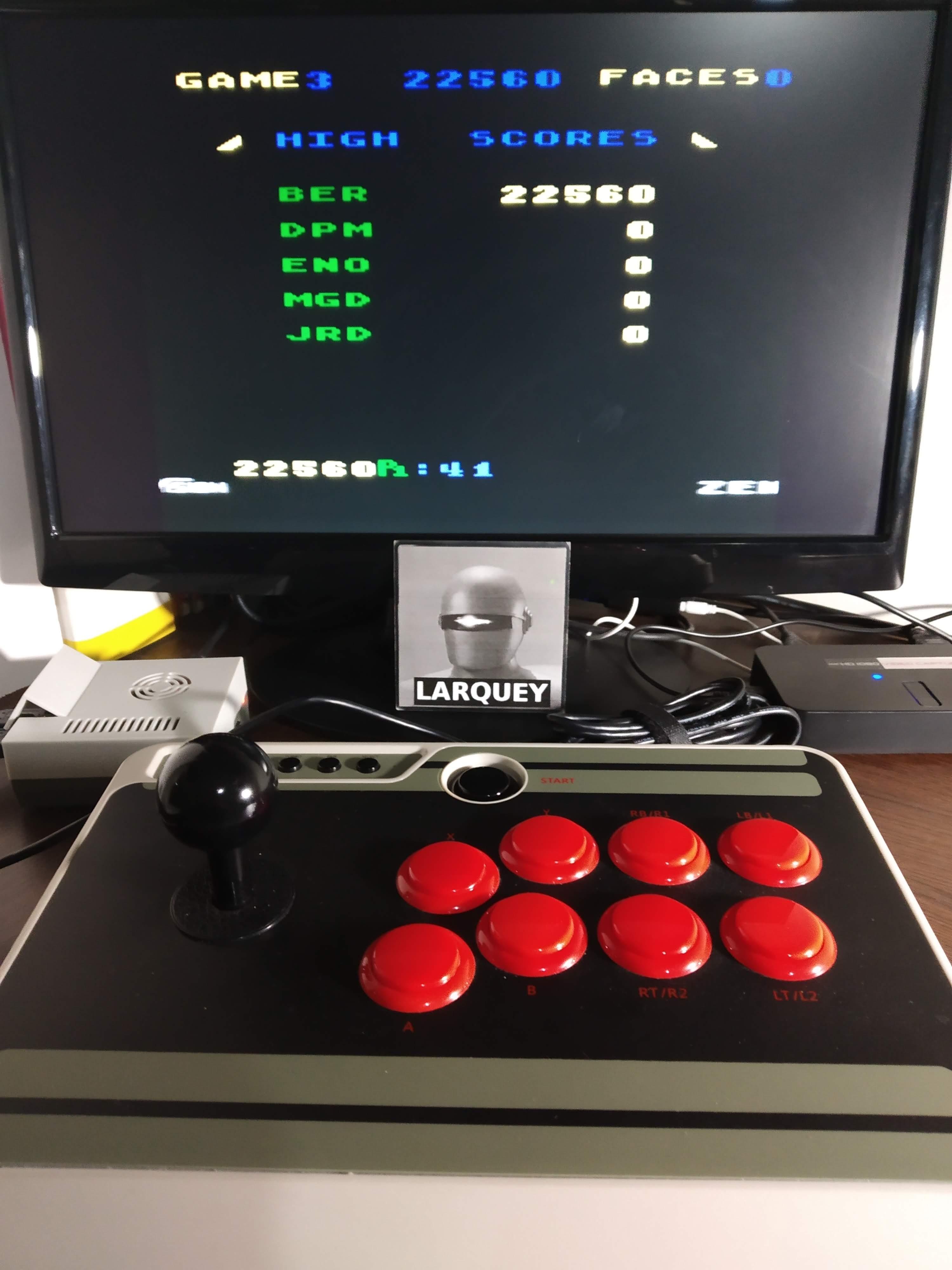 Larquey: Zenji: Game 3 (Atari 5200 Emulated) 22,560 points on 2019-11-13 13:09:32