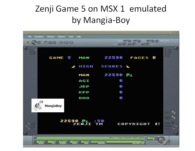 MangiaBoy: Zenji [Game 5] (MSX Emulated) 22,590 points on 2017-10-28 18:14:25