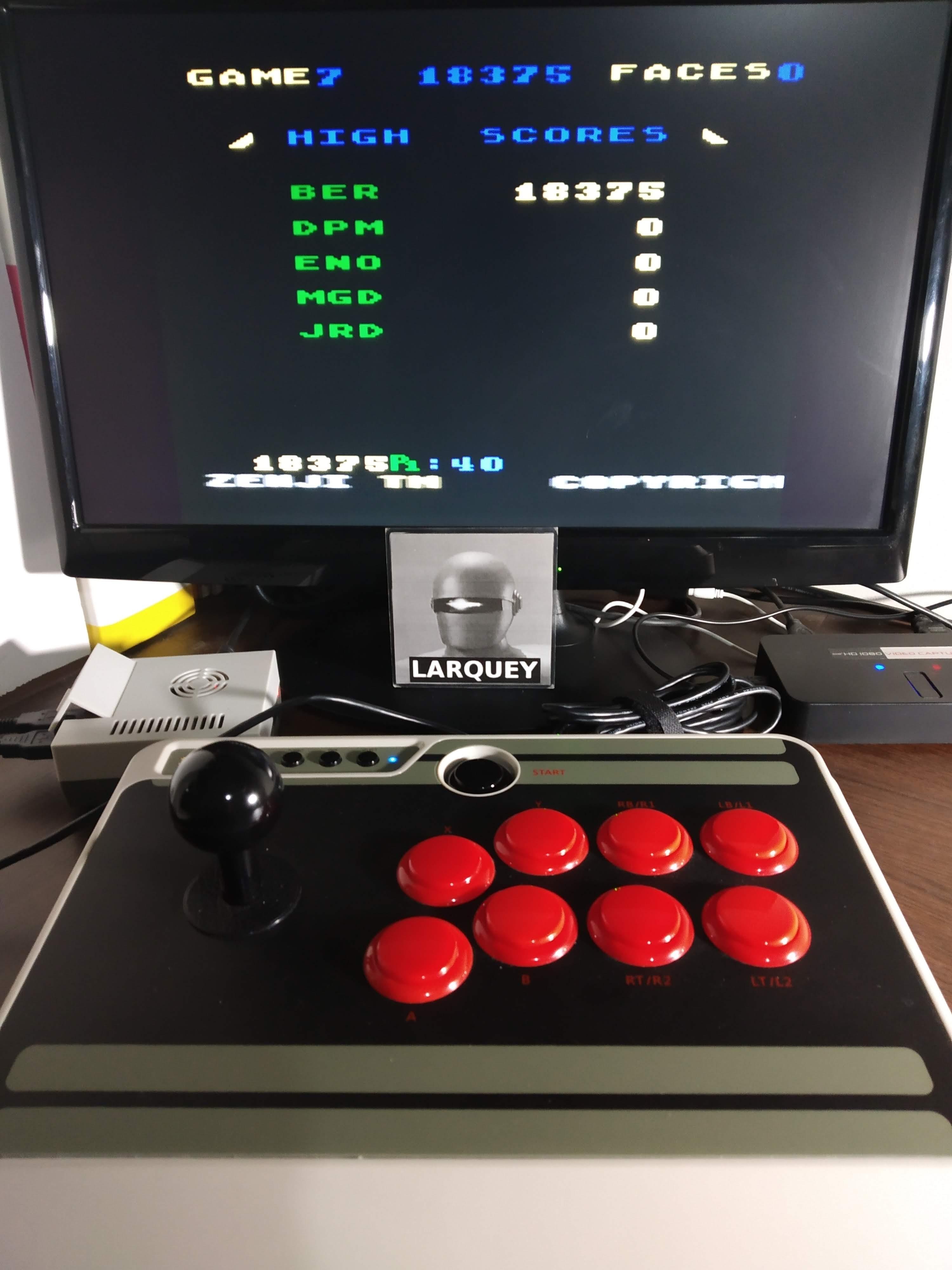 Larquey: Zenji: Game 7 (Atari 5200 Emulated) 18,375 points on 2019-11-13 13:14:22