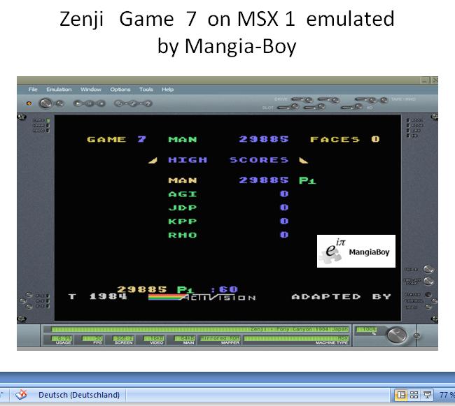 MangiaBoy: Zenji [Game 7] (MSX Emulated) 29,885 points on 2019-01-01 05:31:58