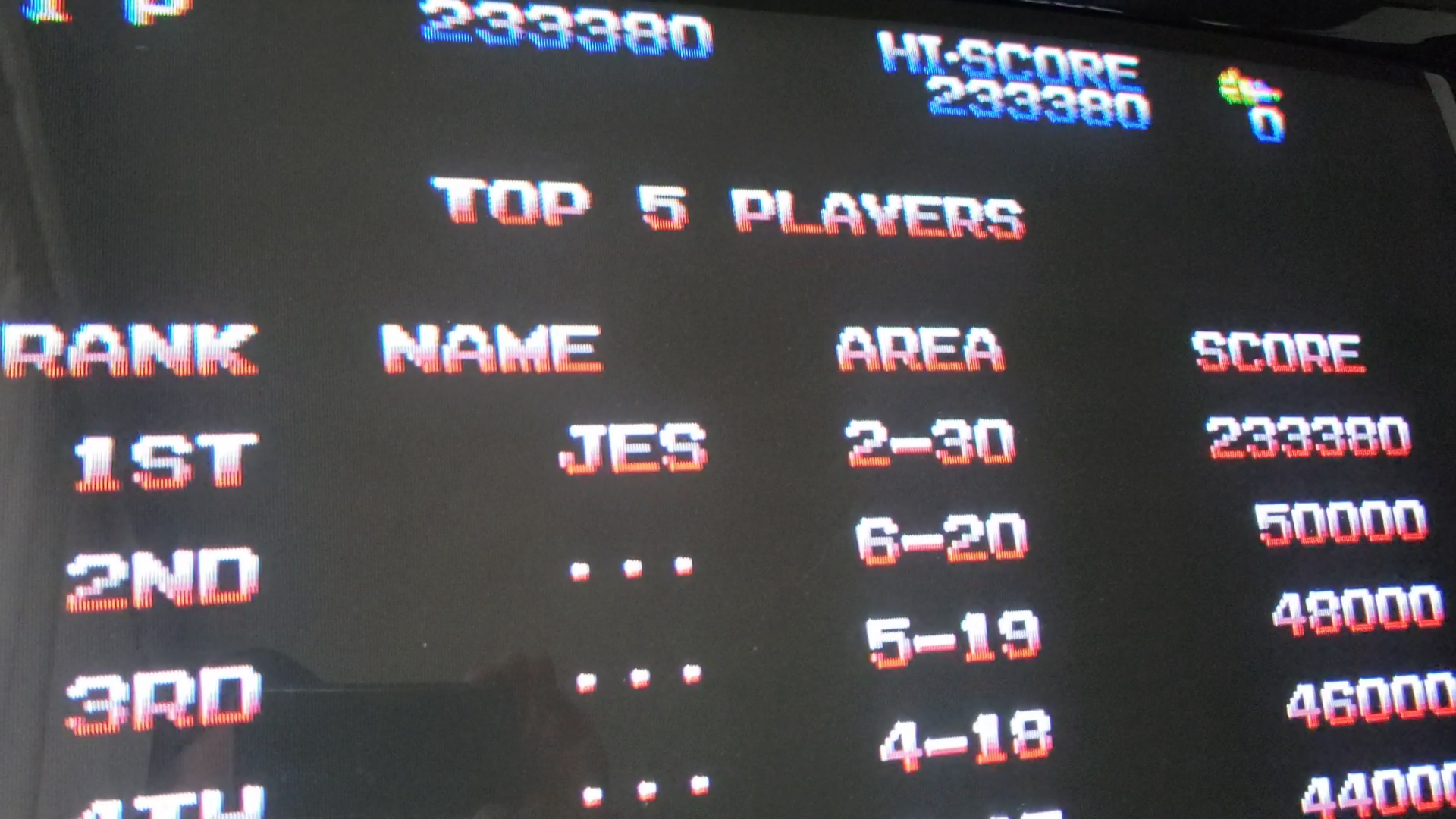 JES: Zero Wing [zerowing] (Arcade Emulated / M.A.M.E.) 233,380 points on 2020-04-25 19:59:46