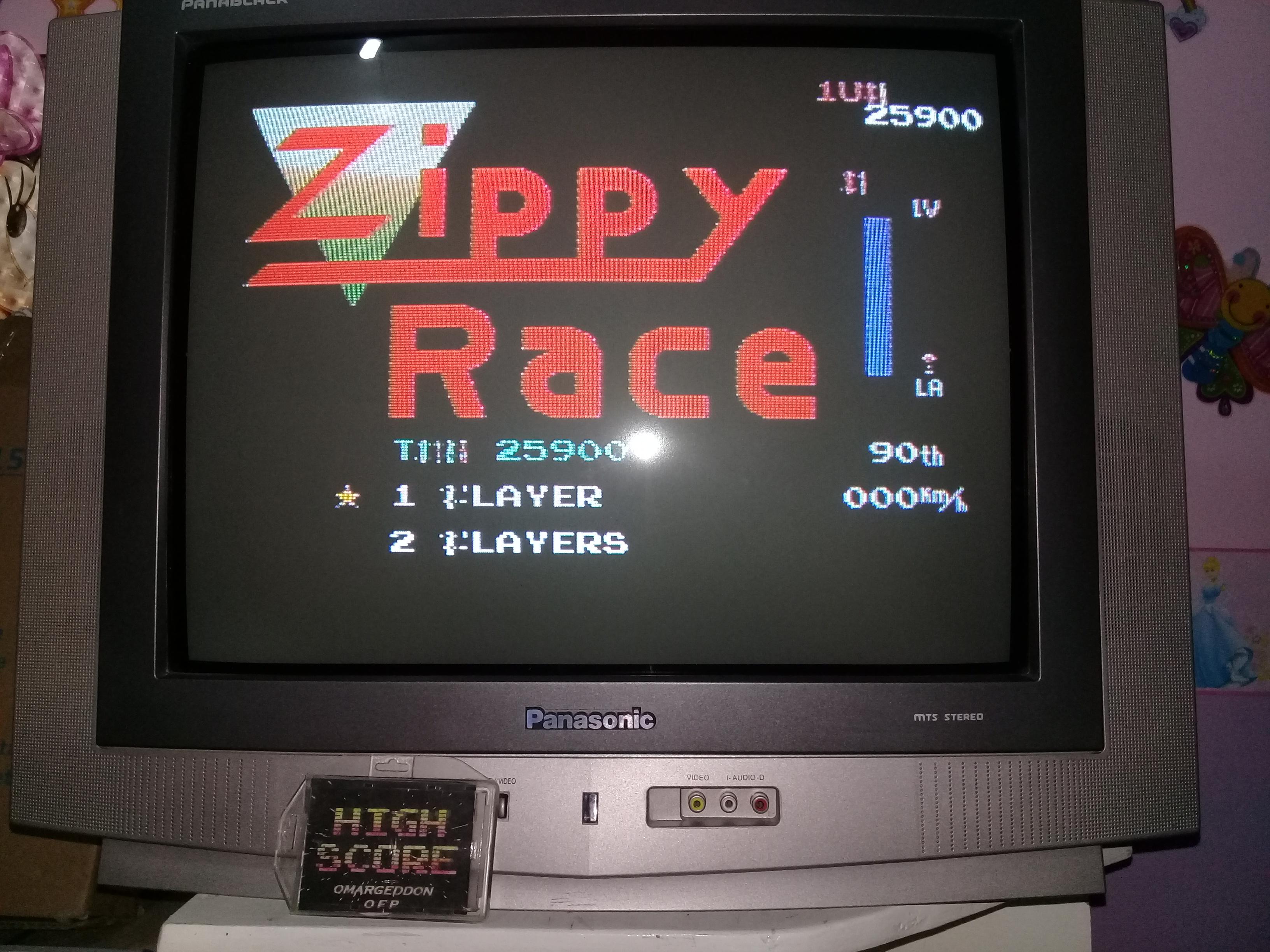 omargeddon: Zippy Race / MotoRace U.S.A. (NES/Famicom) 25,900 points on 2019-03-25 19:51:10