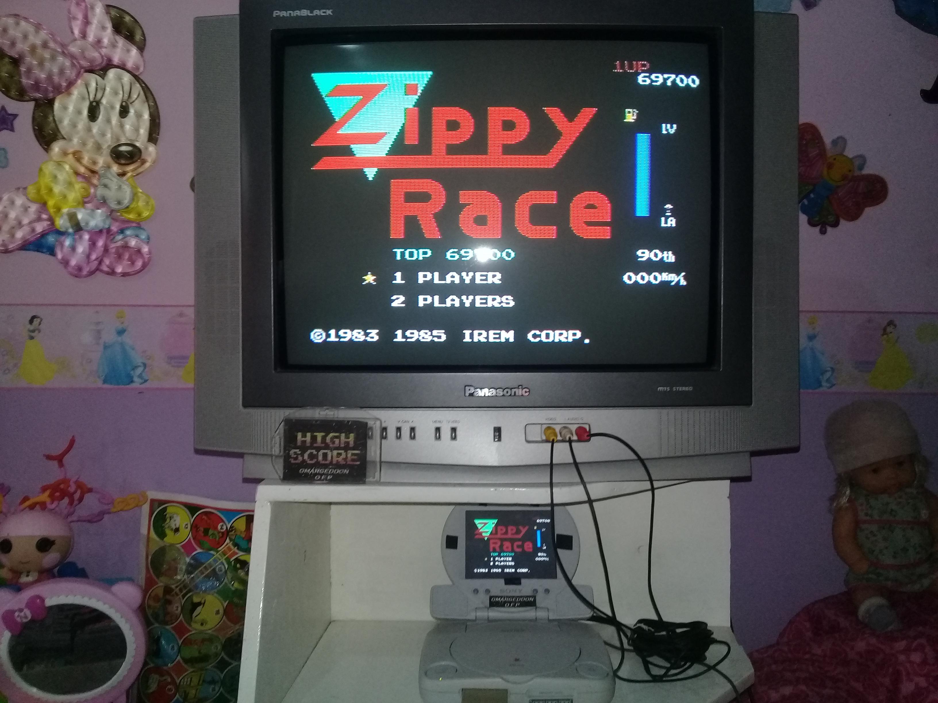 omargeddon: Zippy Race / MotoRace U.S.A. (NES/Famicom Emulated) 69,700 points on 2019-07-14 14:58:36