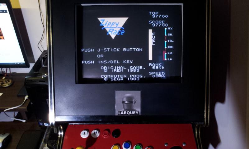 Larquey: Zippy Race (Sega SG-1000 Emulated) 97,700 points on 2018-04-08 11:35:46