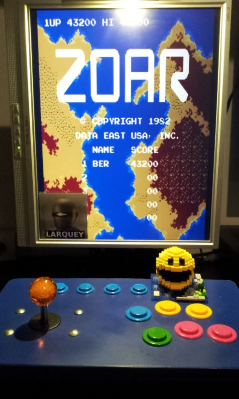 Larquey: Zoar [zoar] (Arcade Emulated / M.A.M.E.) 43,200 points on 2017-04-29 14:13:54