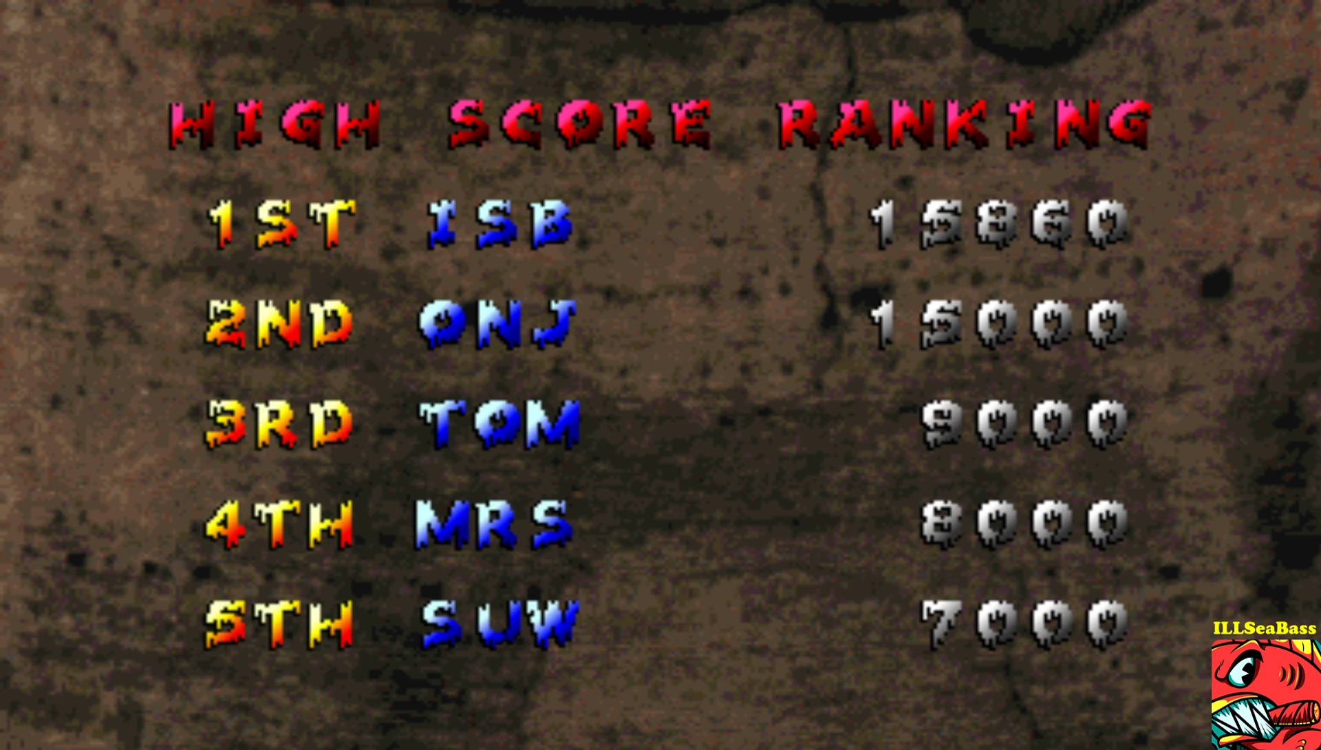 ILLSeaBass: Zombie Raid (Arcade Emulated / M.A.M.E.) 15,860 points on 2017-02-20 20:38:37