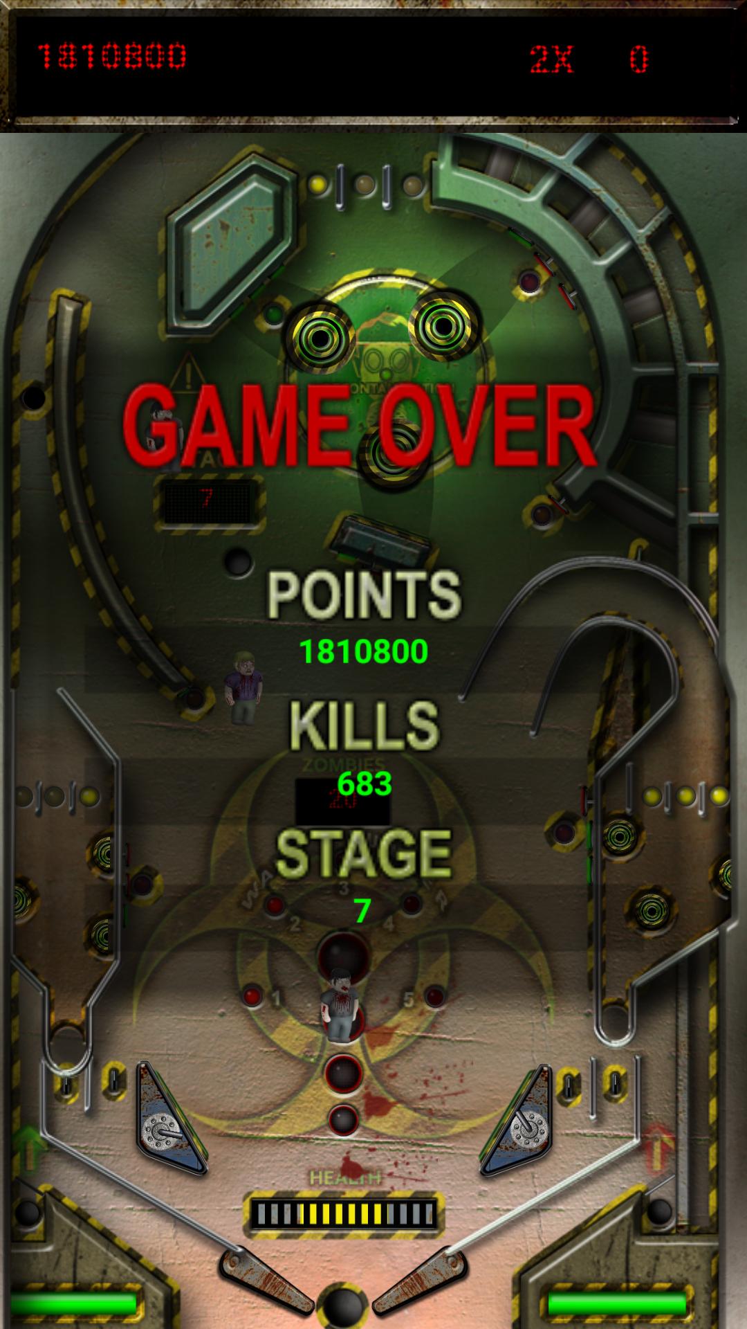 Mantalow: Zombie Smash Pinball (Android) 1,810,800 points on 2015-10-26 07:27:28