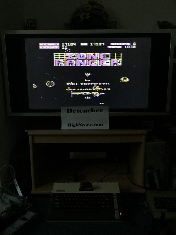 Deteacher: Zone Ranger (Atari 400/800/XL/XE) 17,104 points on 2015-09-20 16:11:35