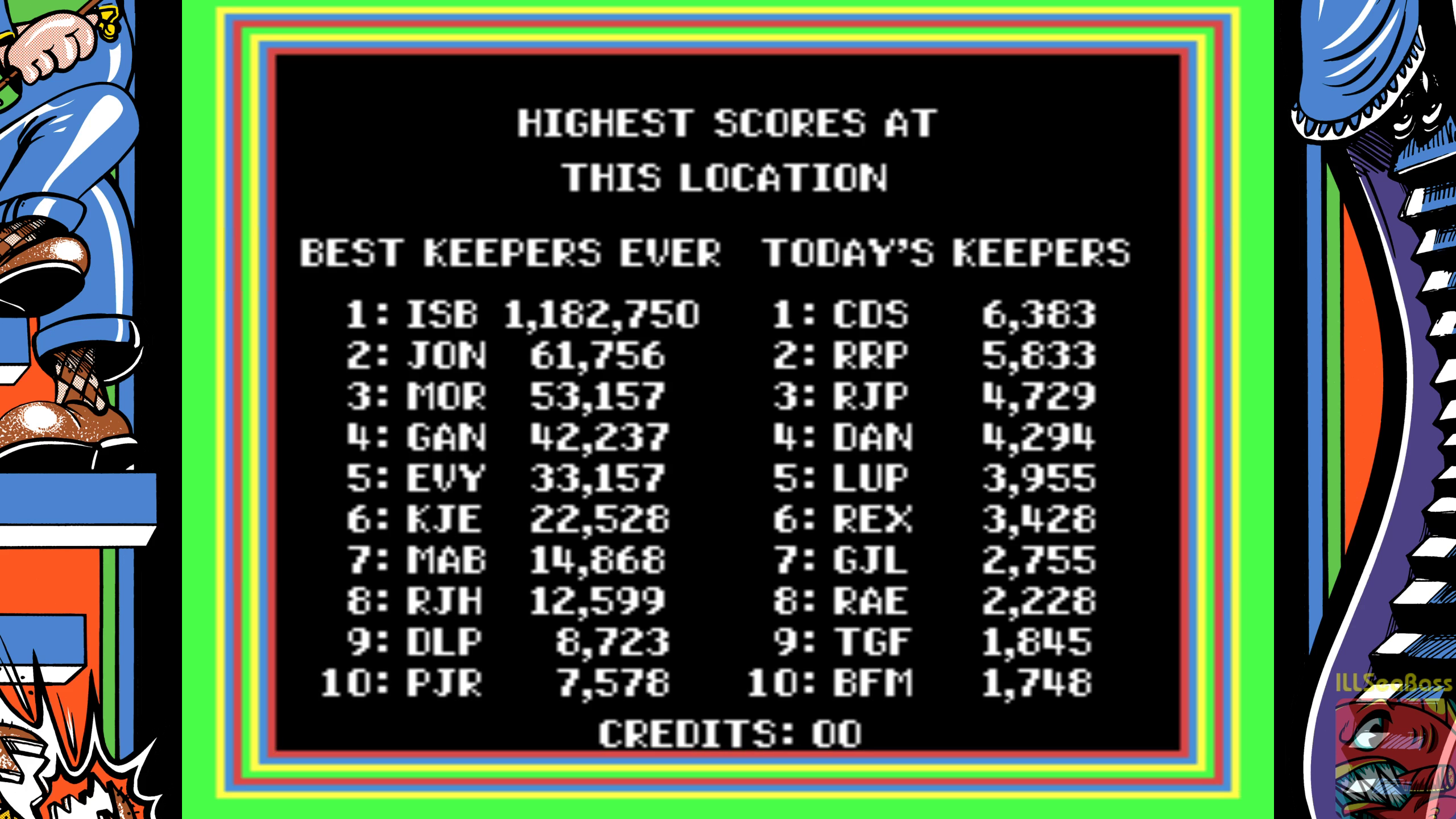 ILLSeaBass: Zoo Keeper (Arcade Emulated / M.A.M.E.) 1,182,750 points on 2018-10-20 23:42:15