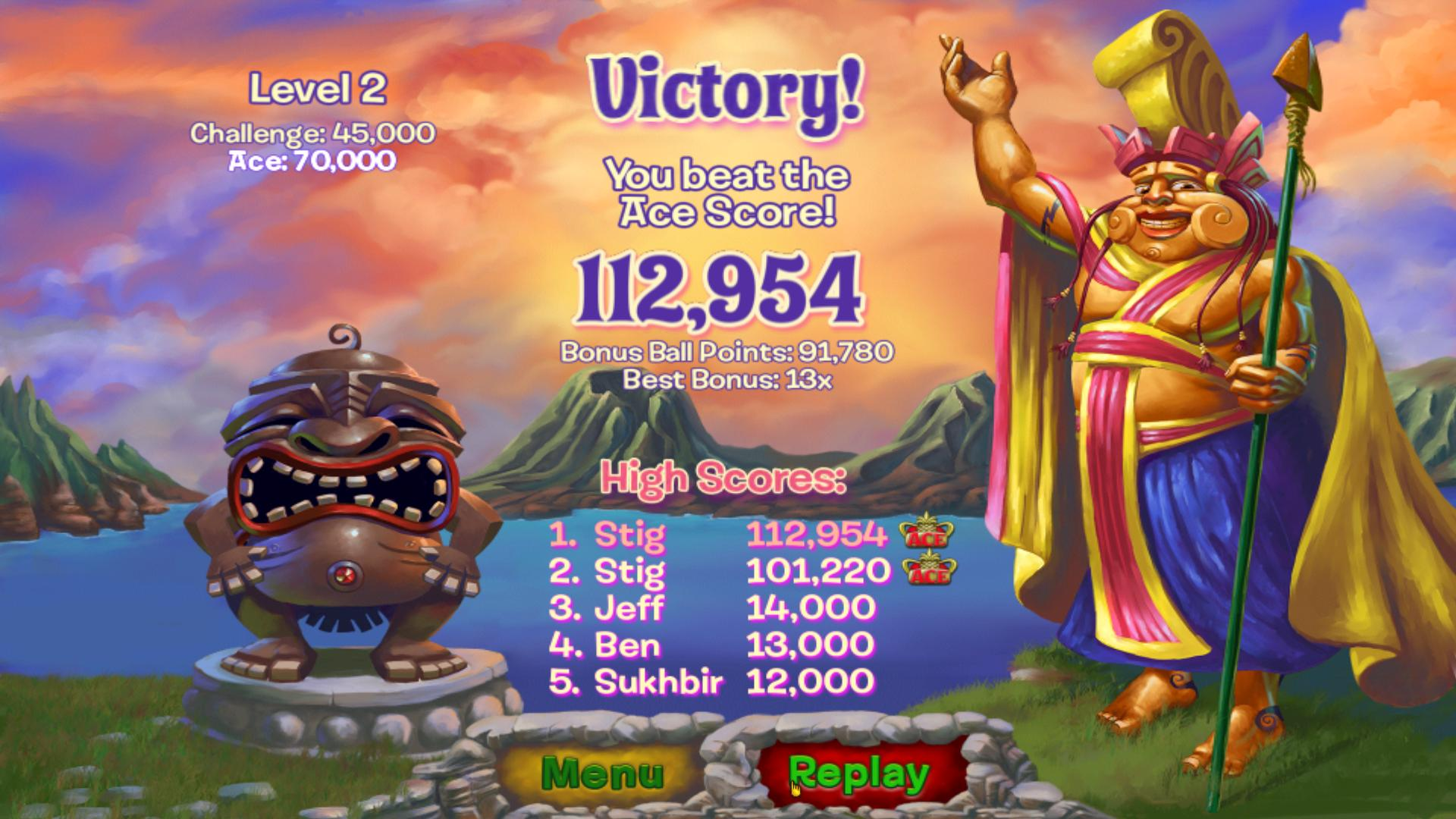 Zumas Revenge Challenge Mode Level 2 Highest Score Pc High