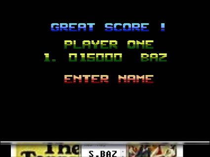 S.BAZ: Zybex (Atari 400/800/XL/XE Emulated) 15,000 points on 2016-05-22 18:51:40