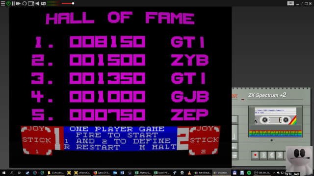 GTibel: Zybex (ZX Spectrum Emulated) 8,150 points on 2019-01-28 08:44:43