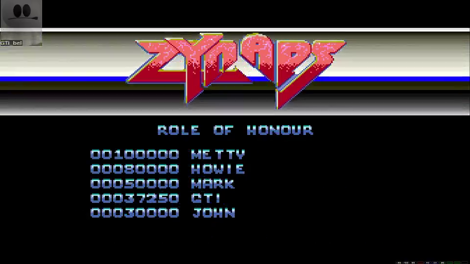 GTibel: Zynaps (Amiga Emulated) 37,250 points on 2016-06-20 00:39:22