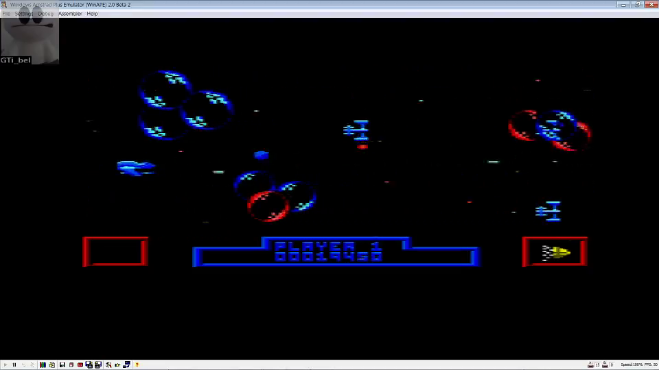 GTibel: Zynaps (Amstrad CPC Emulated) 19,450 points on 2016-06-20 00:36:19