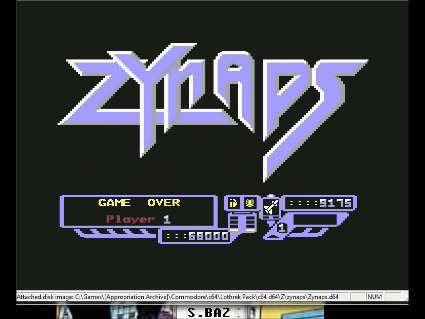 S.BAZ: Zynaps (Commodore 64 Emulated) 9,175 points on 2016-06-11 17:36:57