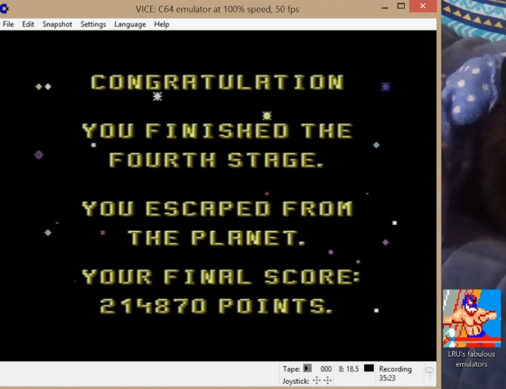 LuigiRuffolo: Zyron (Commodore 64 Emulated) 214,870 points on 2020-06-08 17:37:12