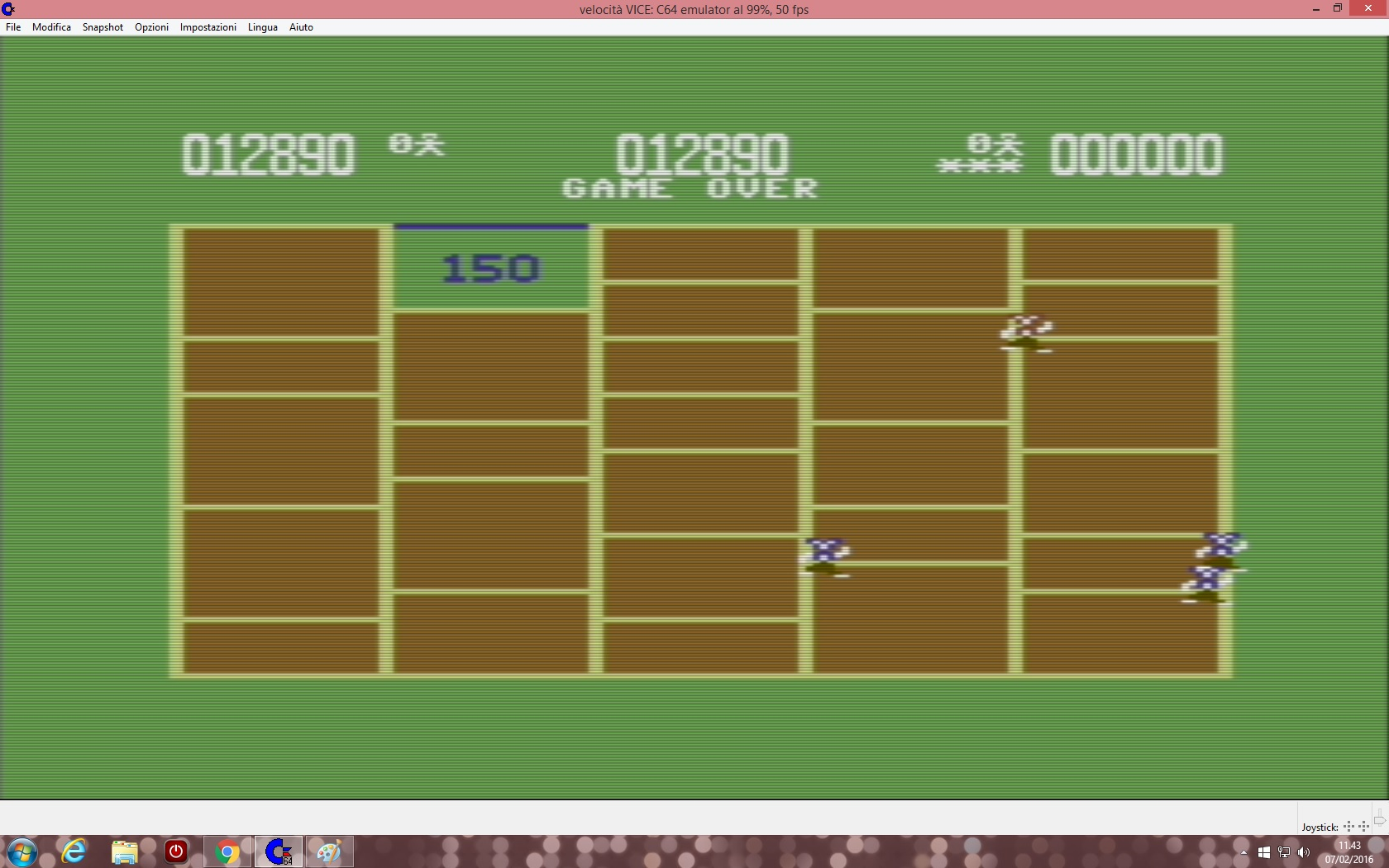 lenny2571: amidar (Commodore 64 Emulated) 12,890 points on 2016-02-07 04:44:00