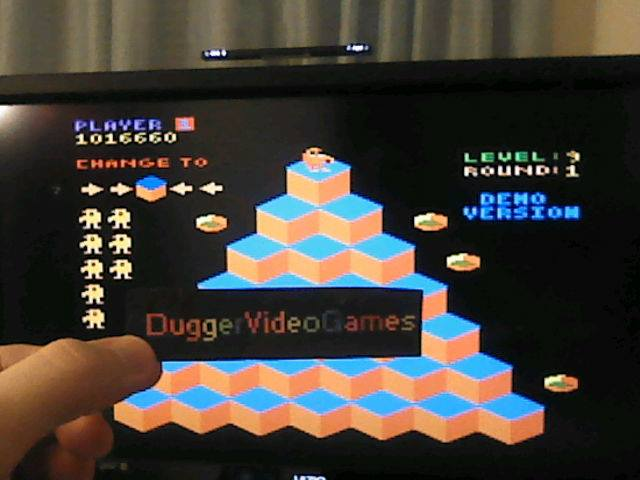 DuggerVideoGames: b*nQ: Easy (Atari 7800 Emulated) 1,016,660 points on 2018-01-07 02:12:23