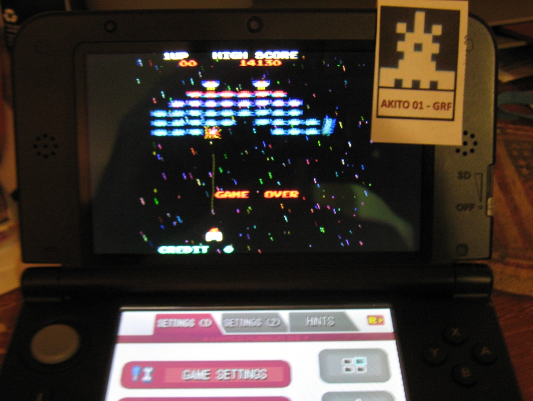 Akito01: Namco Museum: Galaxian (Nintendo DS) 14,130 points on 2015-06-22 21:26:58