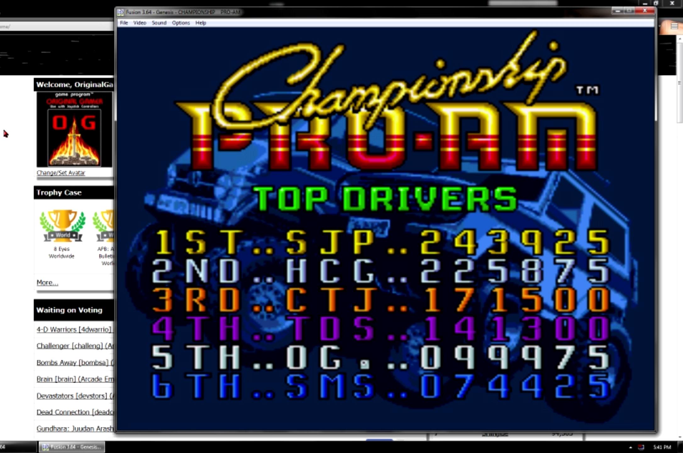 OriginalGamer: Championship Pro-Am (Sega Genesis / MegaDrive Emulated) 99,975 points on 2015-06-22 22:56:51