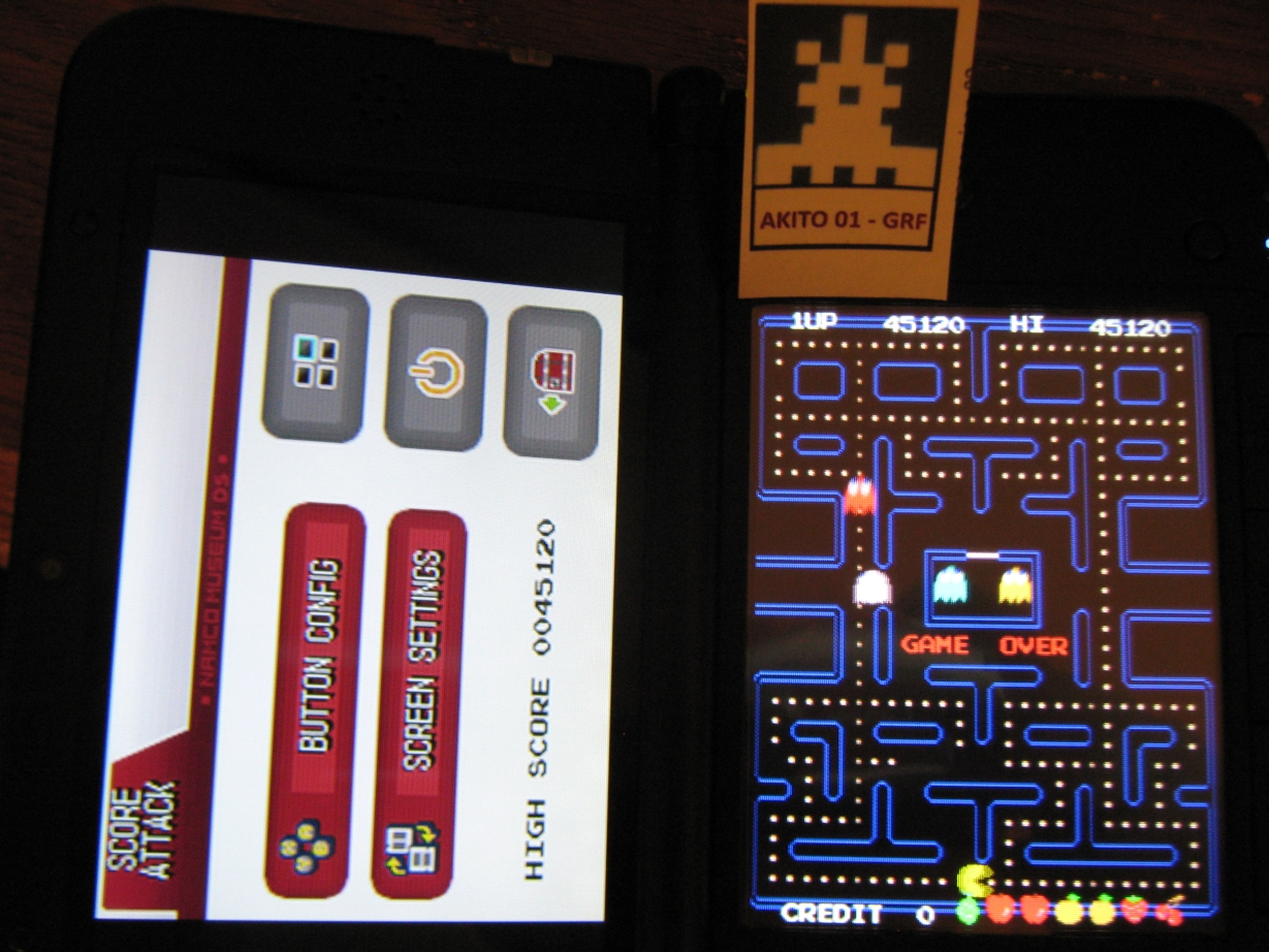Namco Museum: Pac-Man 45,120 points