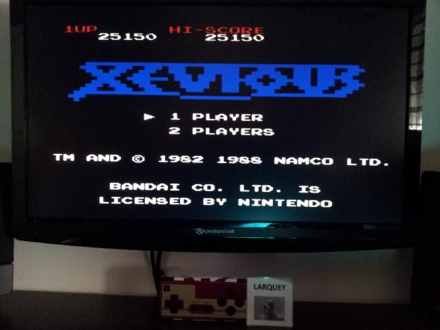 Xevious 25,150 points