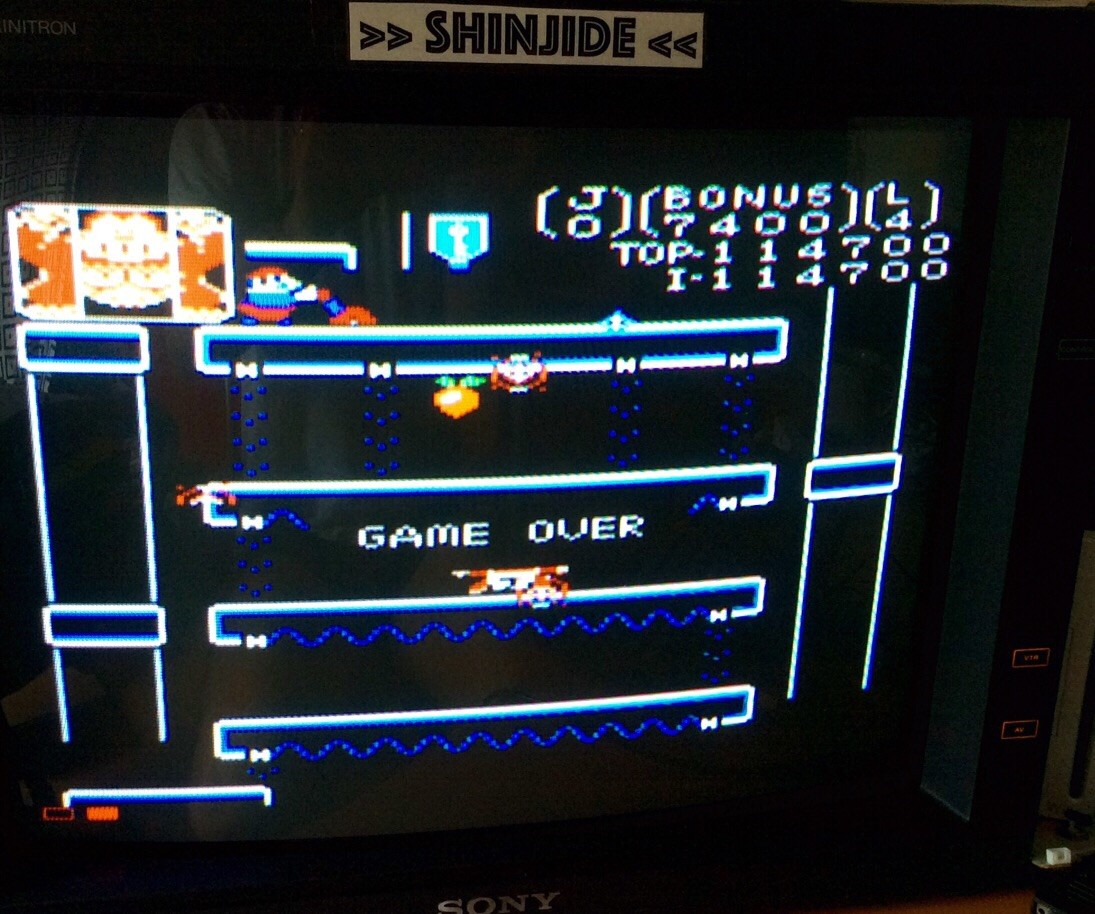 SHiNjide: Donkey Kong Jr: Standard (Atari 7800 Emulated) 114,700 points on 2015-06-26 04:25:47