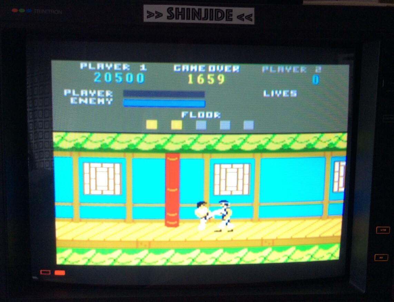 SHiNjide: Kung Fu Master (Atari 7800 Emulated) 20,500 points on 2015-06-26 04:47:47