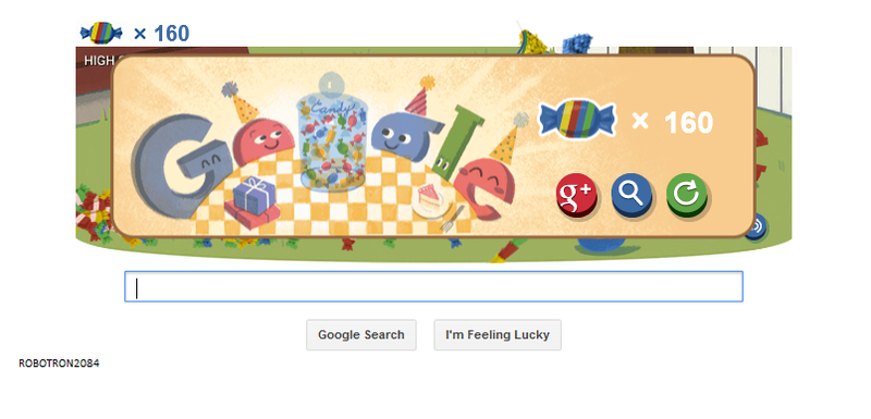 Google 15th Birthday Doodle 160 points