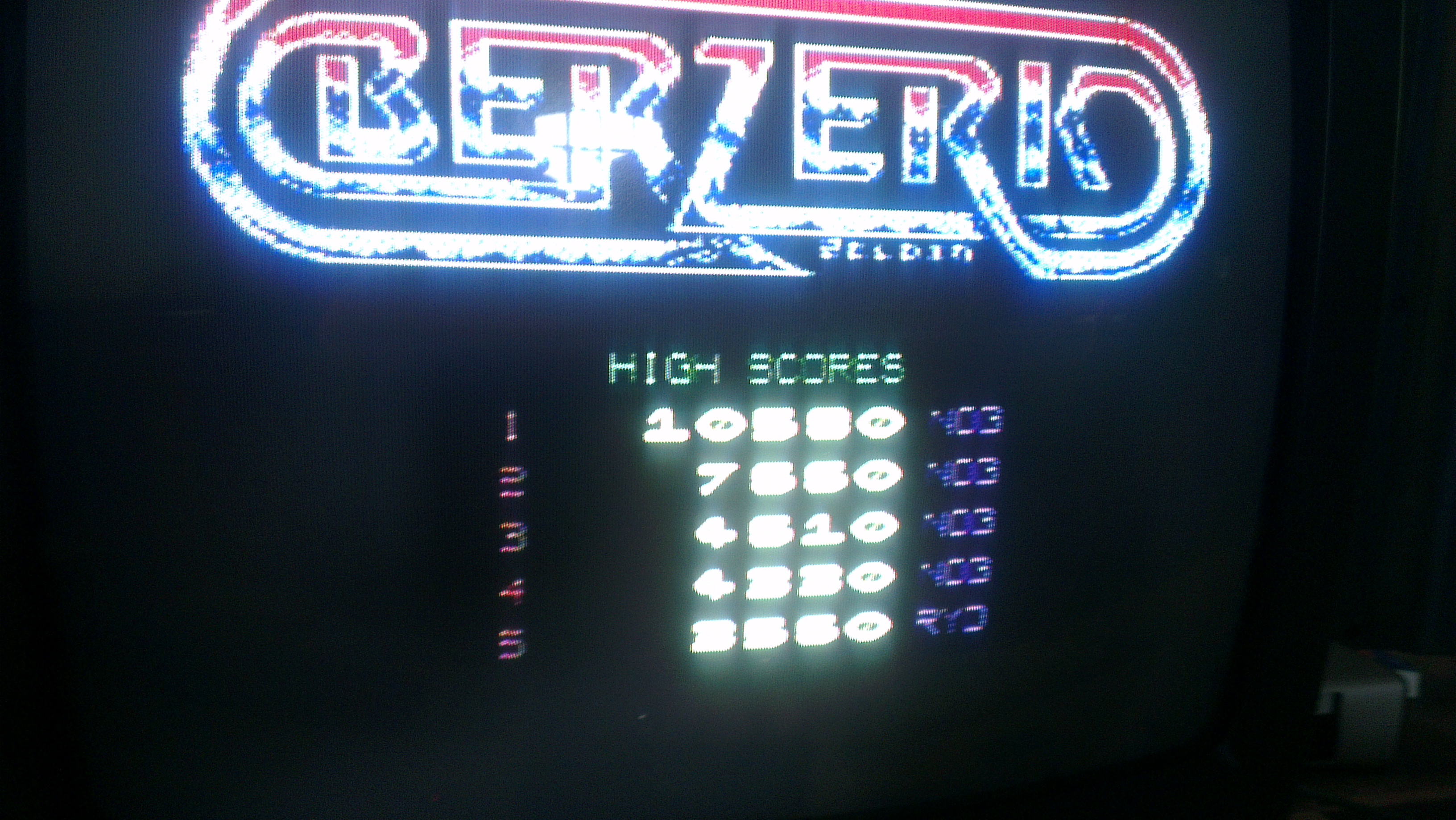 Berzerk Redux 10,580 points