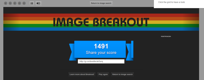 Google Image Breakout 1,491 points