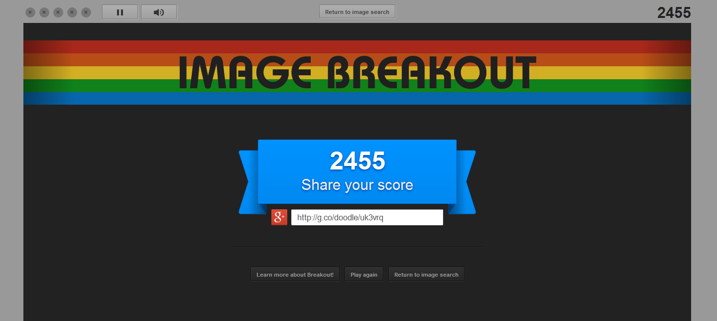 Google Image Breakout 2,455 points