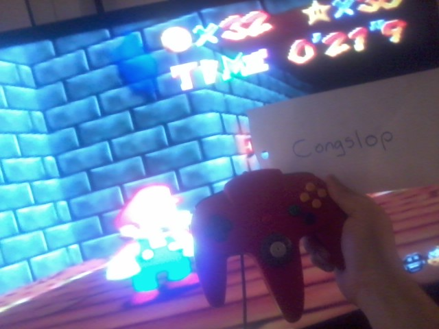 Congslop: Super Mario 64: The Princesses Secret Slide (N64) 0:00:21.9 points on 2014-06-14 01:52:24