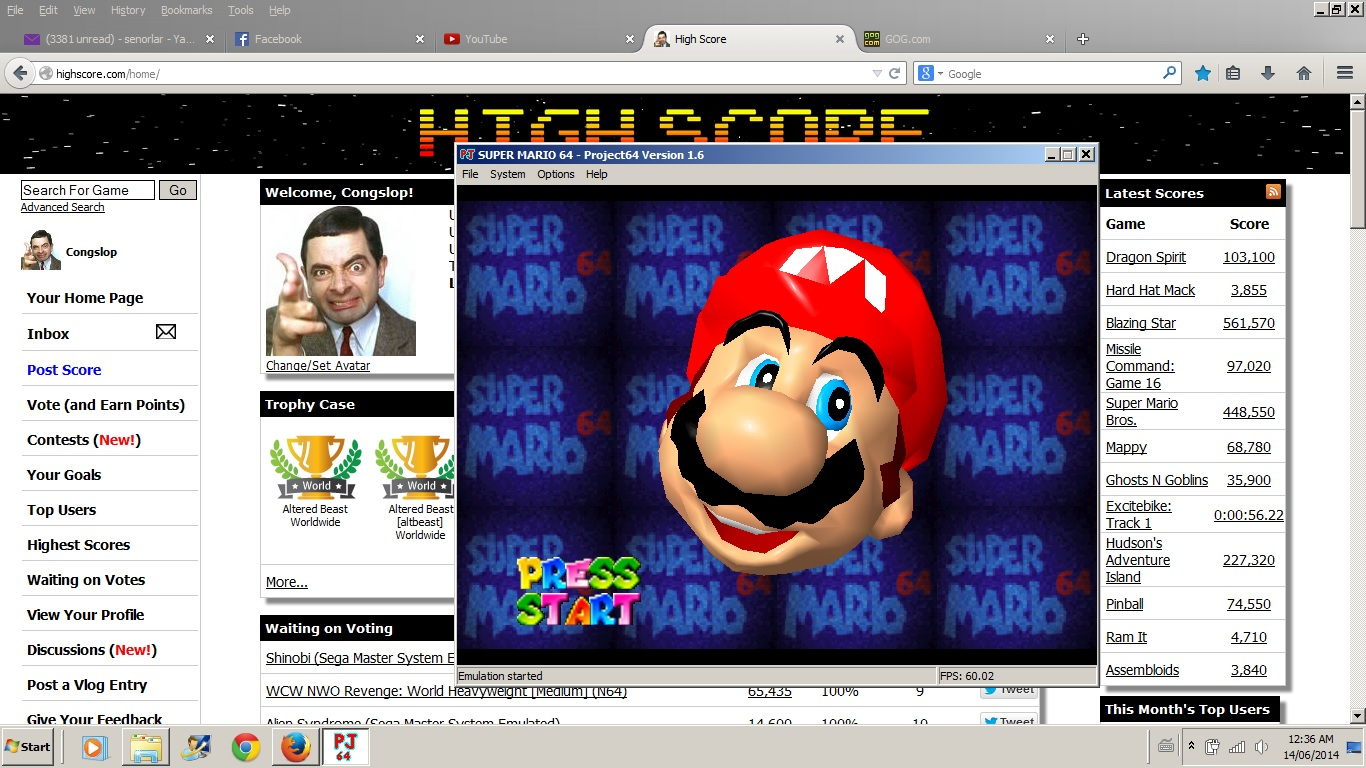 Congslop: Super Mario 64: The Princesses Secret Slide (N64 Emulated) 0:00:21.2 points on 2014-06-14 01:58:42