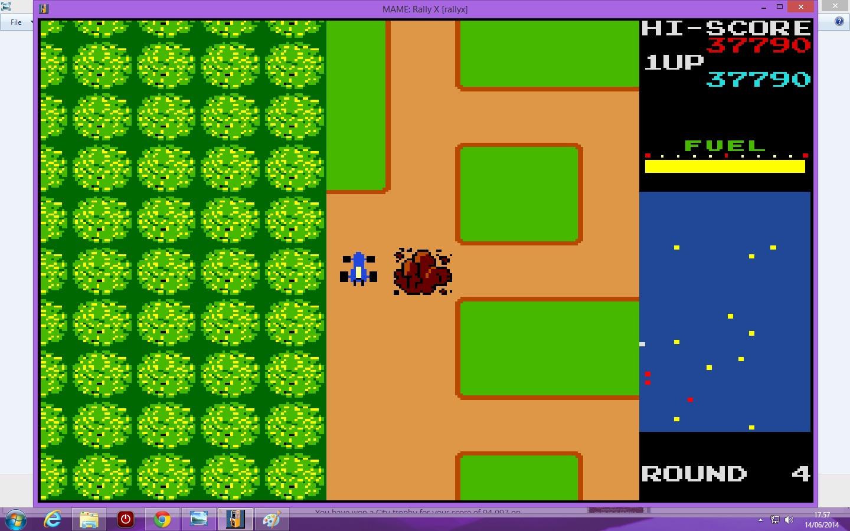 lenny2571: Rally X (Arcade Emulated / M.A.M.E.) 37,790 points on 2014-06-14 10:58:44