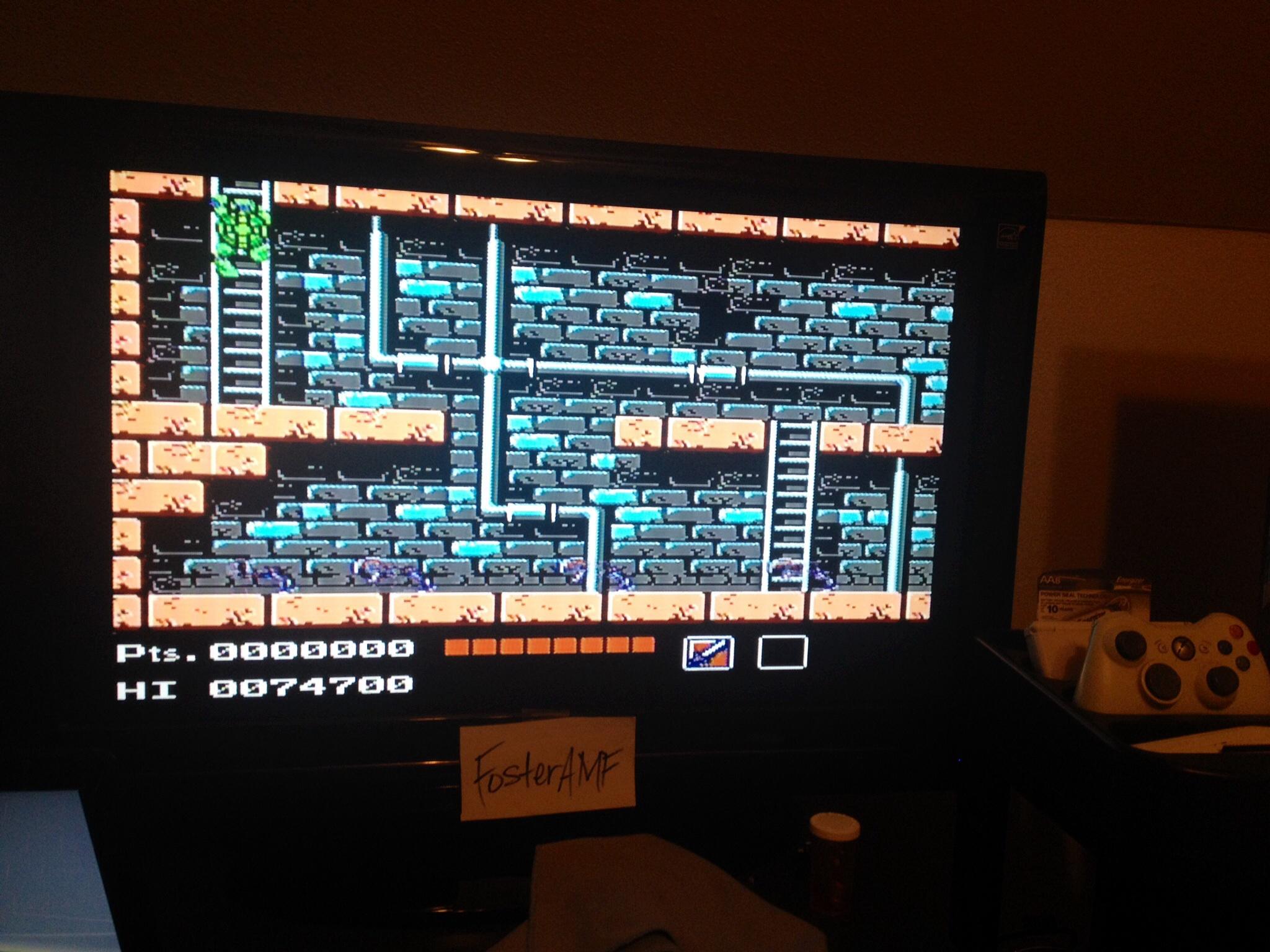 FosterAMF: Teenage Mutant Ninja Turtles (NES/Famicom) 74,700 points on 2014-06-14 14:41:18