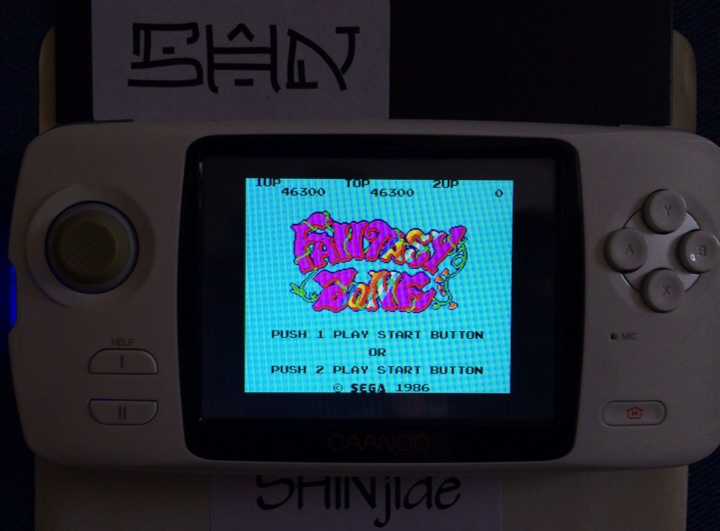 SHiNjide: Fantasy Zone (Sega Master System Emulated) 46,300 points on 2014-06-15 06:59:02