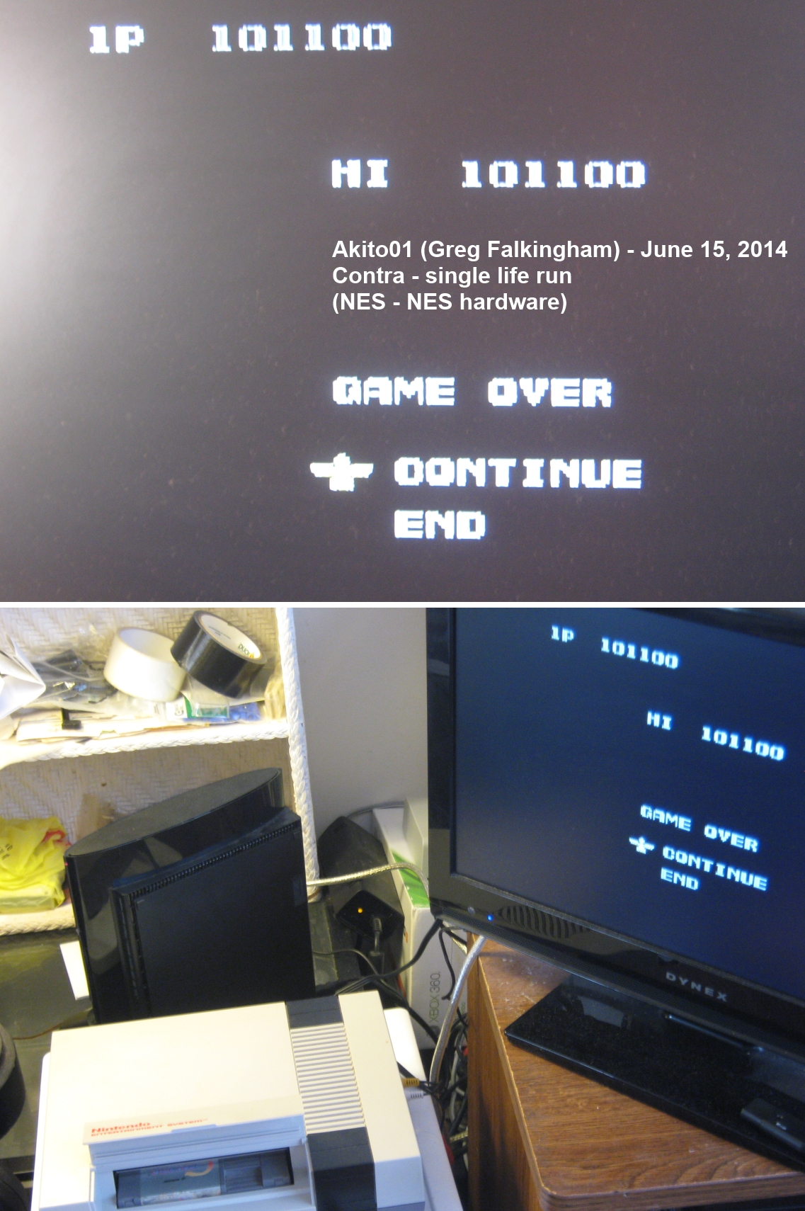 Akito01: Contra [1 Life Only] (NES/Famicom) 101,100 points on 2014-06-15 15:13:19